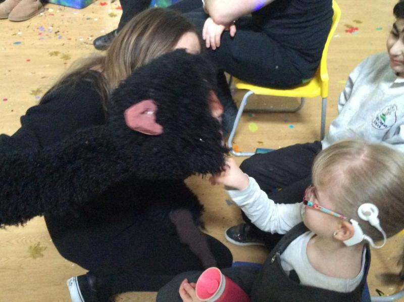 Meeting the monkey in 'Stealing the Drum'